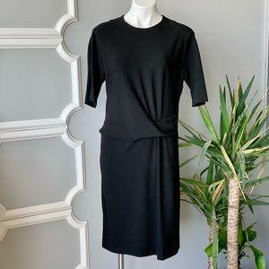 Gerard Darel Front Fold Sheath Midi Dress Size 10